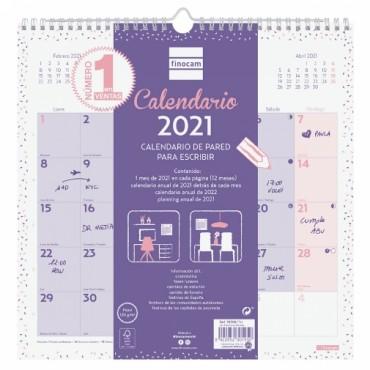Calendario Pared Finocam 300x300 Chic Morado 7870027