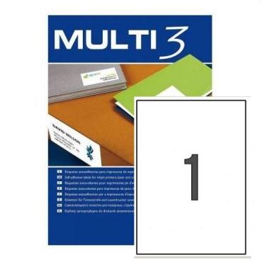 Etiqueta Multifunción Apli Multi3 A4 C/100 210x297 4714 100 E.