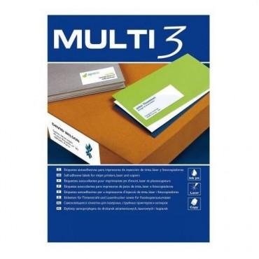 Etiqueta Multifunción Apli Multi3 A4 C/100 38x21.2 4716 6500 E.