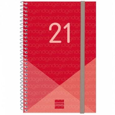Agenda Espiral Finocam Year E5 S/V A. Rojo 741443021
