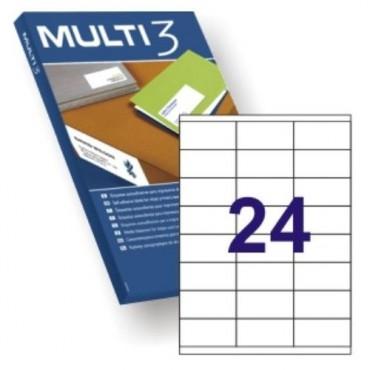 Etiqueta Multifunción Apli Multi3 A4 C/100 70x35 04703 2400E.
