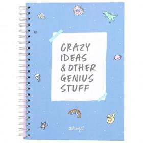 Libreta Mr. Wonderful A4 Crazy ideas & Other Genius Stuff