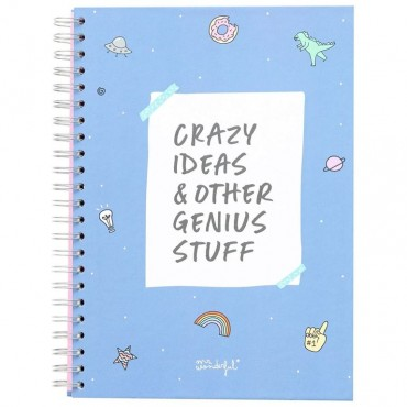 Libreta Mr. Wonderful A4 Crazy ideas & Other Genius Stuff