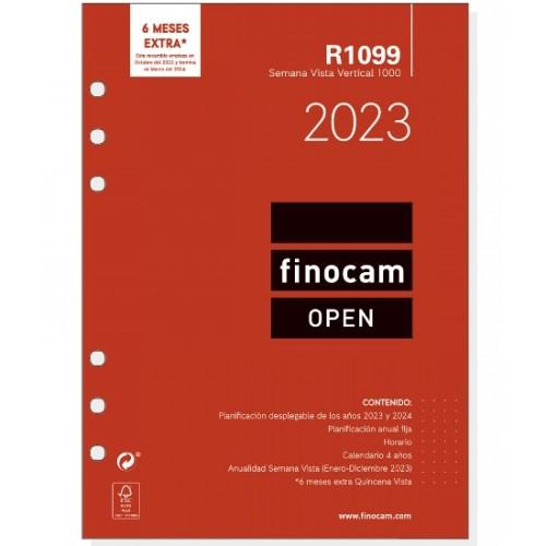 1000 Recambio Agenda Finocam Open Rayado Horizontal